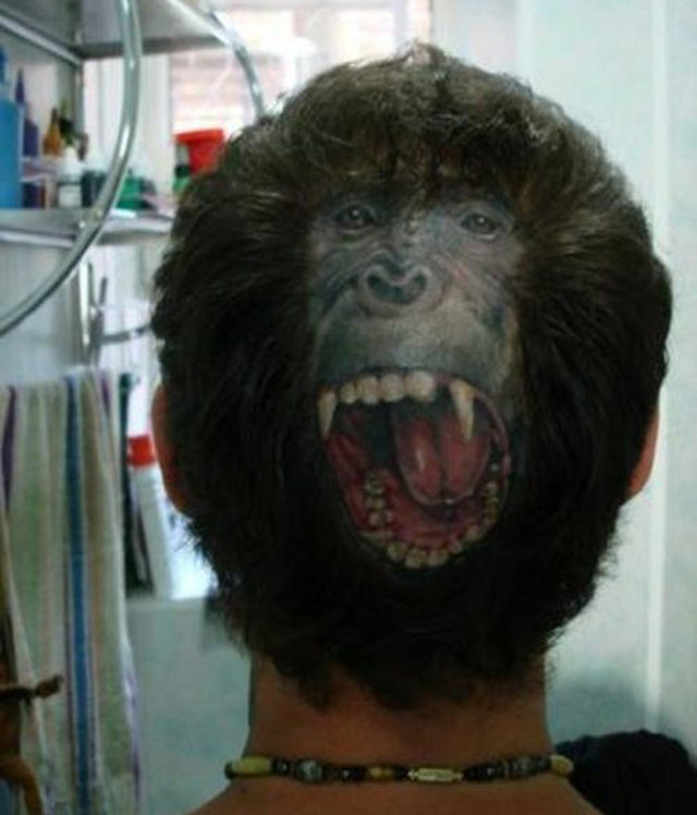 ape face tattoo