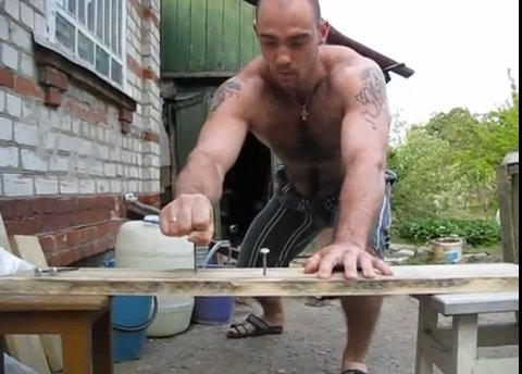 Hammers nails